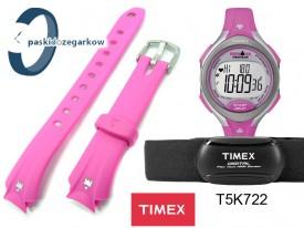 Pasek do zegarka Timex T5K722 gumowy różowy