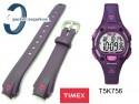 Pasek do zegarka Timex T5K756 gumowy fioletowy