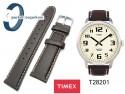 Pasek do zegarka Timex T28201 skórzany, brązowy 20 mm