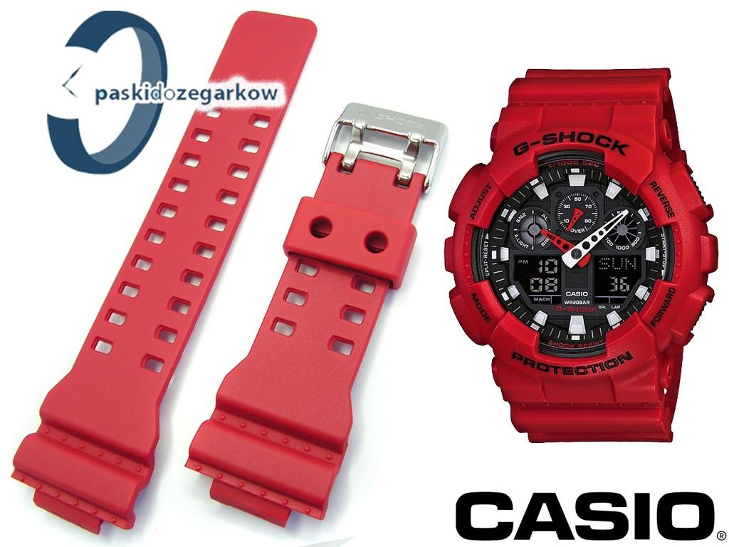 Pasek Do Casio Ga 100b 4a 100 Gr 8900 110 Gd G Shock 4adr 120 300 Czerwony Matowy Sprzczka Byszczca