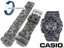 Pasek do Casio GA-100CM, GD-120CM, GAC-100, GA-100, GA-110, GA-300, GD-100, GA-120, GD-120, G-8900, GDF-100 moro szare
