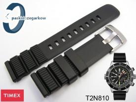 Pasek do zegarka Timex T2N810 czarny gumowy 22 mm