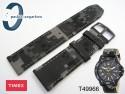 Pasek do zegarka Timex T49966 materiałowy moro szare 22 mm