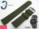 Pasek do zegarka Timex T49961 materiałowy zielony 20mm