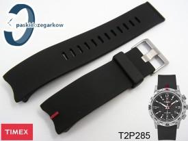 Pasek do zegarka Timex T2P285 czarny gumowy
