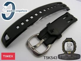 Pasek do zegarka Timex T5K543 gumowy czarny