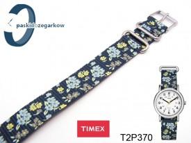 Pasek do zegarka Timex T2P370 parciany jednoczęściowy 16 mm