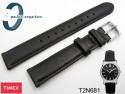 Pasek do zegarka Timex T2N681 skórzany czarny 16 mm
