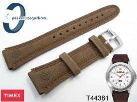 Pasek do zegarka Timex T44381 skórzany brązowy 20 mm