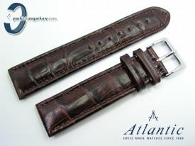 Pasek Atlantic 21 mm brązowy sprzączka stalowa