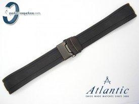 Pasek Atlantic SEAROCK 22mm gumowy czarny oksydowane zapięcie