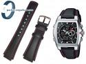 Pasek do zegarka Casio - EFA-120L / EFA-120 skórzany czerwone przeszycie