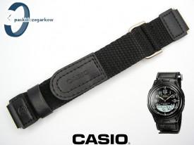 Pasek do Casio AW-80 czarny parciany na rzep