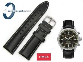 Pasek do zegarka Timex TW2P64900 czarny skórzany 22 mm