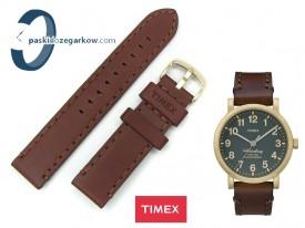 Pasek do zegarka Timex TW2P58900 skórzany brązowy 20 mm