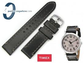 Pasek do zegarka Timex TW2P58800 czarny skórzany 20 mm