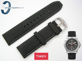 Pasek Timex T49988 czarny skórzany 22mm