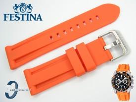 Pasek do Festina F16574 pomarańczowy gumowy 24 mm