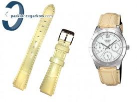 Pasek do zegarka Casio LTP-2069L-7A1 skórzany beżowy