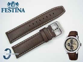 Pasek do Festina F16585 skórzany brązowy 23 mm