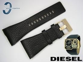 Pasek do DIESEL DZ7102 skórzany czarny
