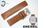 Pasek do DIESEL DZ7357 skórzany brązowy