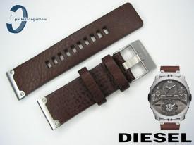 Pasek DIESEL DZ7360 skórzany, brązowy