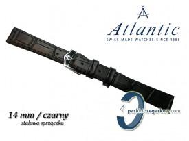 Pasek Atlantic 14mm czarny stalowa sprzączka