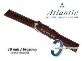 Pasek Atlantic 18mm brązowy sprzączka stalowa