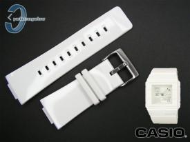 Pasek do Casio BGA-200, BGD-100, BGD-101 biały połysk