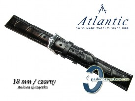 Pasek Atlantic 18mm czarny