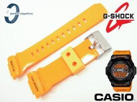 Pasek do Casio GLX-150, GLX-150-4 pomarańczowy połysk