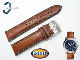 Pasek do Fossil FS5210 skórzany brązowy 22 mm