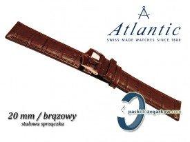 Pasek Atlantic 20mm brązowy