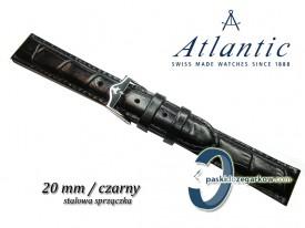 Pasek Atlantic 20mm czarny