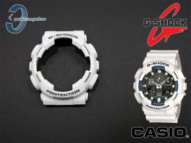 Bezel Casio G-Shock GA-100B-7A, GA-100, GA-110, GD-100, GD-110, GD-120, GA-120 biały matowy
