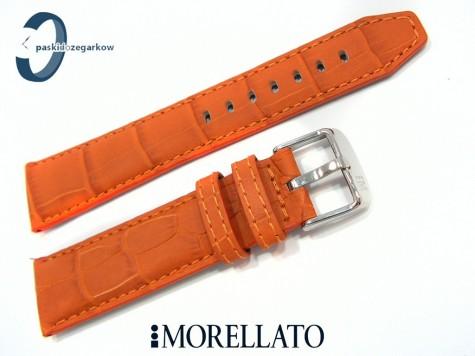 Pasek MORELLATO SOCCER skórzany wodoodporny pomarańczowy