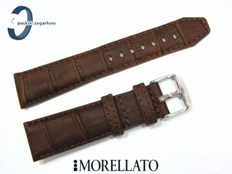 Pasek MORELLATO SOCCER skórzany wodoodporny brązowy