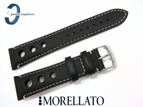 Pasek MORELLATO GIOTTO skórzany, czarny