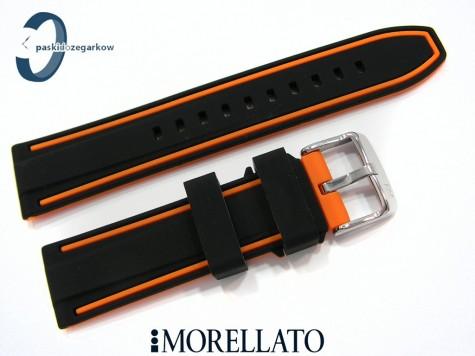 Pasek MORELLATO TARIM SILICONE czarno-pomarańczowy