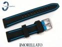 Pasek MORELLATO TARIM SILICONE 24 mm, czarno-niebieski