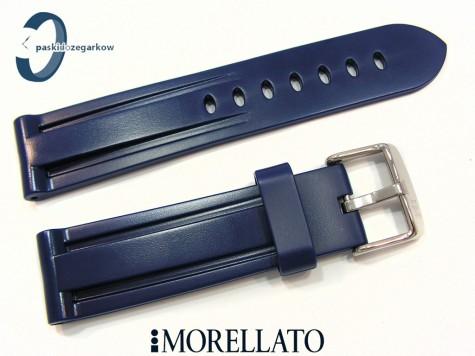 Pasek MORELLATO MARINER gumowy, niebieski