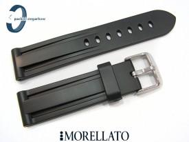 Pasek MORELLATO MARINER gumowy, czarny