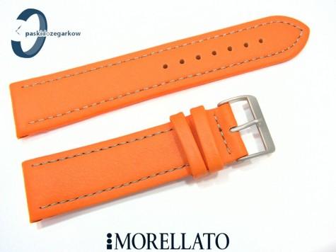 Pasek MORELLATO LORICA skórzany pomarańczowy