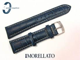 Pasek MORELLATO PLUS 22 mm skórzany niebieski