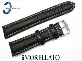 Pasek MORELLATO PLUS 22 mm skórzany czarny czarny