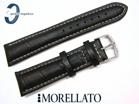 Pasek MORELLATO PLUS skórzany czarny