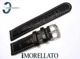 Pasek MORELLATO GUTTUSO 22 mm, skórzany czarny