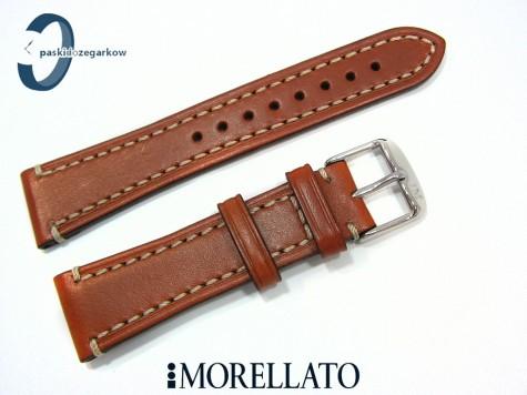 Pasek MORELLATO RAFFAELO skórzany, brązowy