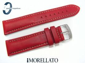 Pasek MORELLATO CASTAGNO skórzany 22 mm czerwony